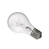 Bulbo de la luz eléctrica en el fondo blanco Foto de archivo