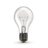 Bulbo de la luz eléctrica en el fondo blanco Imagen de archivo libre de regalías