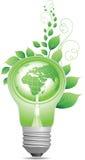 Bulbo de la luz verde Imagen de archivo