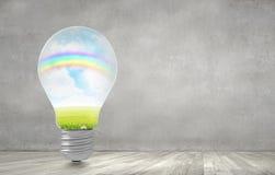 Bulbo de la luz verde Imagen de archivo libre de regalías