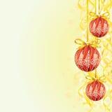 Bulbo de la Navidad y fondo de la cinta ilustración del vector