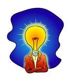 Bulbo de Mr.Light Imagen de archivo libre de regalías