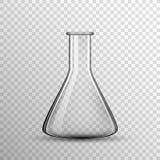 Bulbo de vidro químico transparente, garrafa do vetor ilustração royalty free