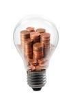 Bulbo del dinero imagen de archivo libre de regalías
