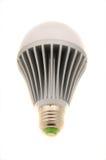 Bulbo del LED en blanco Imagenes de archivo