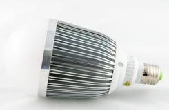 Bulbo do diodo emissor de luz isolado no fundo branco Fotos de Stock