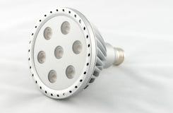 Bulbo do diodo emissor de luz isolado no fundo branco Foto de Stock Royalty Free