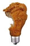 Bulbo do pé de galinha com mordida fotos de stock