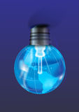 Bulbo e globo ilustração stock