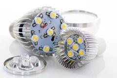 Bulbo E27 e GU10 do diodo emissor de luz Imagem de Stock Royalty Free