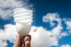 Bulbo económico de energía Fotos de archivo libres de regalías