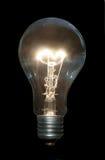 Bulbo eléctrico ardiente Fotografía de archivo