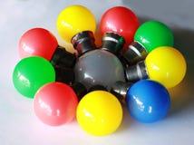 Bulbo elétrico colorido imagem de stock royalty free