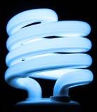 Bulbo fluorescente azul Foto de archivo