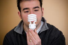 Bulbo fluorescente compacto Imagen de archivo