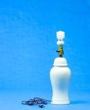 Bulbo fluorescente en lámpara Foto de archivo libre de regalías