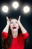 Bulbo iluminado fotos de stock royalty free