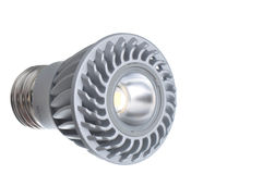 Bulbo isolado do diodo emissor de luz Fotos de Stock Royalty Free