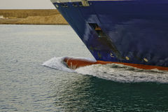 Bulbo rojo en la nave Foto de archivo libre de regalías