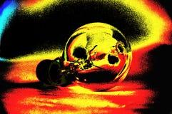 Bulbo roto abstracto Imagen de archivo libre de regalías