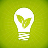 Bulbo verde de la ecología Imagen de archivo