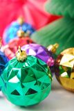 Bulbo verde de la Navidad Fotografía de archivo libre de regalías