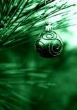 Bulbo verde de la Navidad Fotografía de archivo