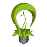 Bulbo verde do eco ilustração stock