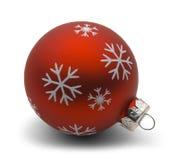 Bulbo vermelho do Natal Foto de Stock Royalty Free