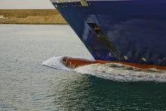 Bulbo vermelho no navio Foto de Stock Royalty Free