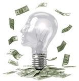Bulbo y dinero elegantes Imagenes de archivo