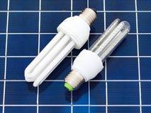 Bulbos ahorros de energía Foto de archivo libre de regalías