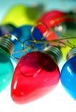 Bulbos coloridos - rojo en el centro Foto de archivo libre de regalías