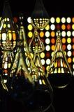Bulbos de cristal y colores amarillos Foto de archivo libre de regalías