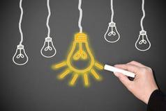 Bulbos de la luz eléctrica Fotos de archivo libres de regalías