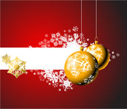 Bulbos de la Navidad con los copos de nieve Imagen de archivo