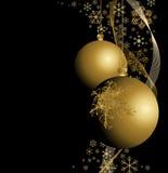 Bulbos de oro de la Navidad Foto de archivo libre de regalías