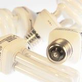 Bulbos del ahorro de la energía de la potencia Imagen de archivo libre de regalías