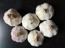 Bulbos del ajo encendido imagen de archivo libre de regalías