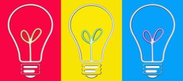 Bulbos del arte pop Ilustración del Vector