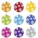 Bulbos do Natal Foto de Stock Royalty Free