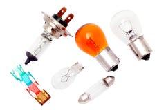 Bulbos e fusíveis do carro. imagens de stock