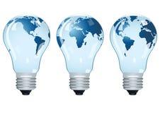 Bulbos eléctricos con las correspondencias. libre illustration