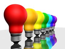 Bulbos em uma fileira Fotos de Stock