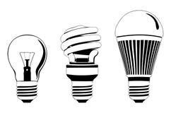 Bulbos fijados Imagenes de archivo