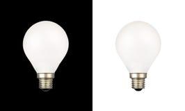 Bulbos nos fundos brancos e pretos Imagem de Stock Royalty Free