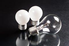 Bulbos pequenos e grandes Foto de Stock Royalty Free