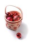 Bulbos vermelhos do Natal fotografia de stock