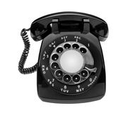 Bulbous black dial phone, isolated Stock Image