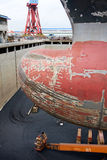 Bulbous bow Stock Images